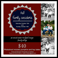 Fall Family Session $40