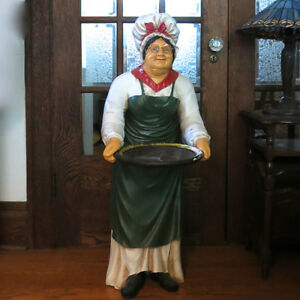 "40"" Tall Statue Restaurant Bar Butler Lady Maid & Serving Tray Kitchener / Waterloo Kitchener Area image 1"