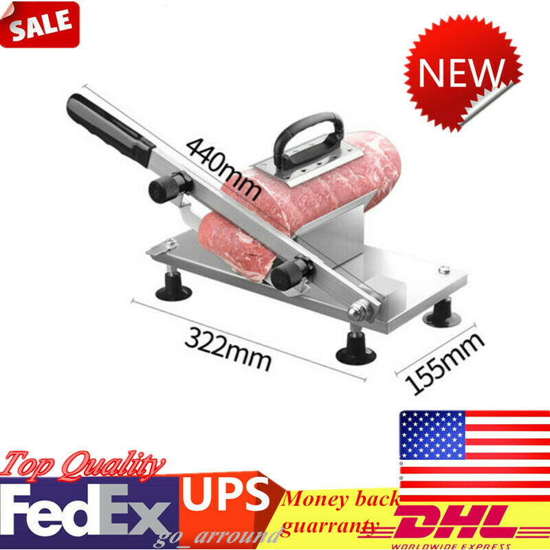Manual Mutton Beef Cutter Stainless Steel Cutting Machine Frozen Meat Slicer TOP