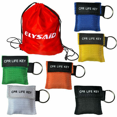 120 stücke Einwegventil Keychain CPR Life Key Reanimation CPR Maske 6 Farben ()