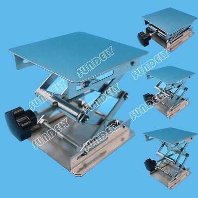 Sundely 4'' Stainless Steel Lab Stand Table Scissor Lift laboratory Jiffy Jack