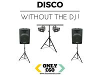 DISCO - WITHOUT THE DJ - Disco Sound & Lighting Equipment Rental / Hire - Speakers & Lights