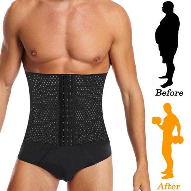 Herren Bauchweggürtel Taillenformer Mieder Shapewear Taille Unterwäsche Gurt DEU