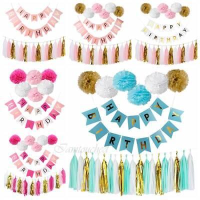 r Set Kit Paper PomPom Tassel Wedding Garland Party Decor (Paper Tassel Garland)