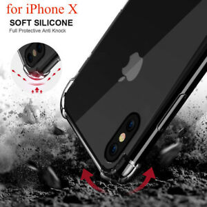 iPhone X Case Premium Quality Crystal Clear Transparent Soft TPU