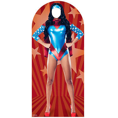 Superwoman Party Supplies (FEMALE SUPERHERO Super Woman Stand-In CARDBOARD CUTOUT Standin Standup)