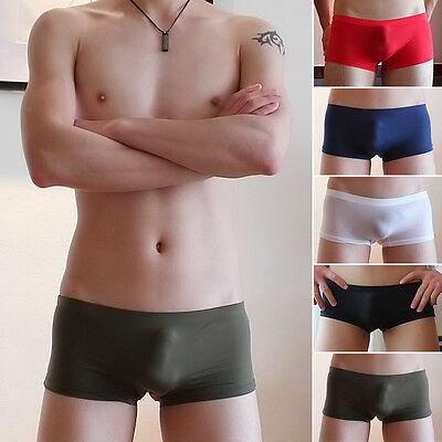 Best Men's Smooth Underwear Breathable Ice Silk Brief Seamless Boxer Silky