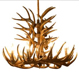 Deer antlers chandeliers