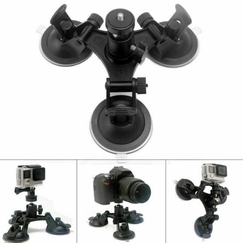 Triple Suction Cup Car Holder Mount for GoPro Hero 3 4 5 6 7 8 Action Camera ss