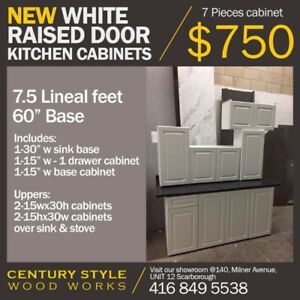 7 PC Raised Panel Door Kitchen Cabinets $750