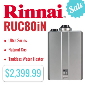 Rinnai RUC80iN Ultra Series Natural Gas Tankless Water Heater