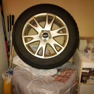 4 winter tires on alloy wheels