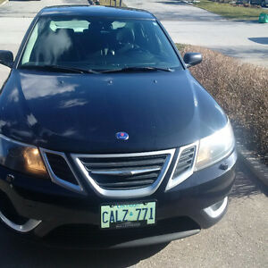 2008 Black Saab 9-3 Aero AWD Turbo