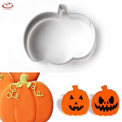 Stainless Steel Halloween Pumpkin Biscuit Cookie Cutter Fondant Cake Decor Mold - Halloween Decorated Cookie Cakes