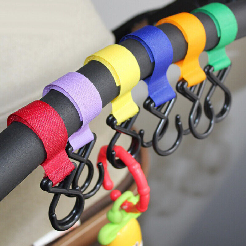 2PCS Baby Stroller Hooks Cart Hanger Hook For Shopping Bag Stroller Accessories