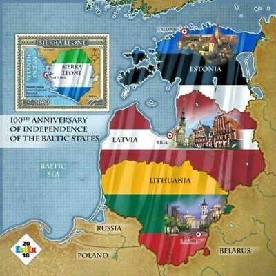 Sierra Leone - 2018 Baltic Independence - Souvenir Sheet - SRL18320b