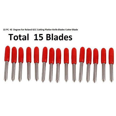 15 Pcs 45 Degree For Roland Gcc Cutting Plotter Knife Blades Cutter Blade Tool