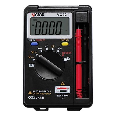 Victor Vc921 Multimeter Ac Dc Resistance Capacitance Frequency Tester Meter New