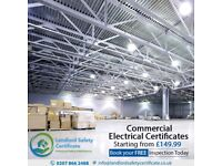 Commercial Electrical Certificate | Electric Certificate Commercial Premises | Starting at £149.99