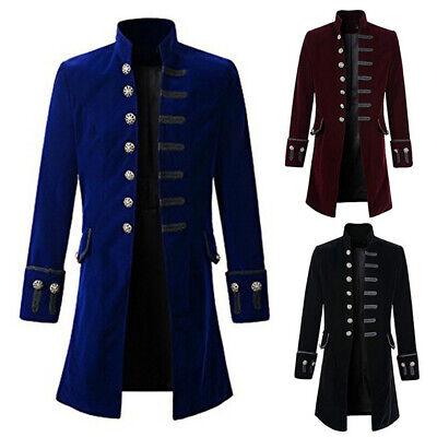 Mantel Herren Steampunk Gothic Jacke Vintage Kostüm Smoking - Smoking Kostüm