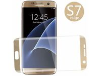 SAMSUNG S6 S7 EDGE CURVED GLASS SCREEN PROTECTORS