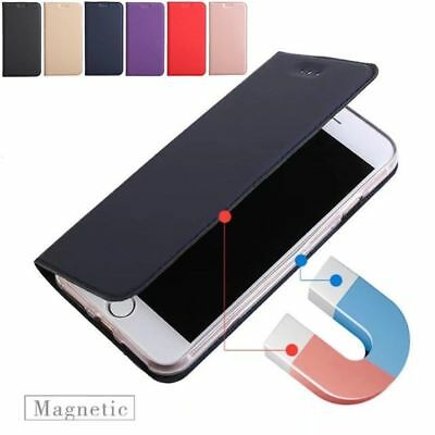 Magnetic Luxury Leather Card Wallet Flip Case Cover for iPhone5 SE 5C 6 7 8 PLUS