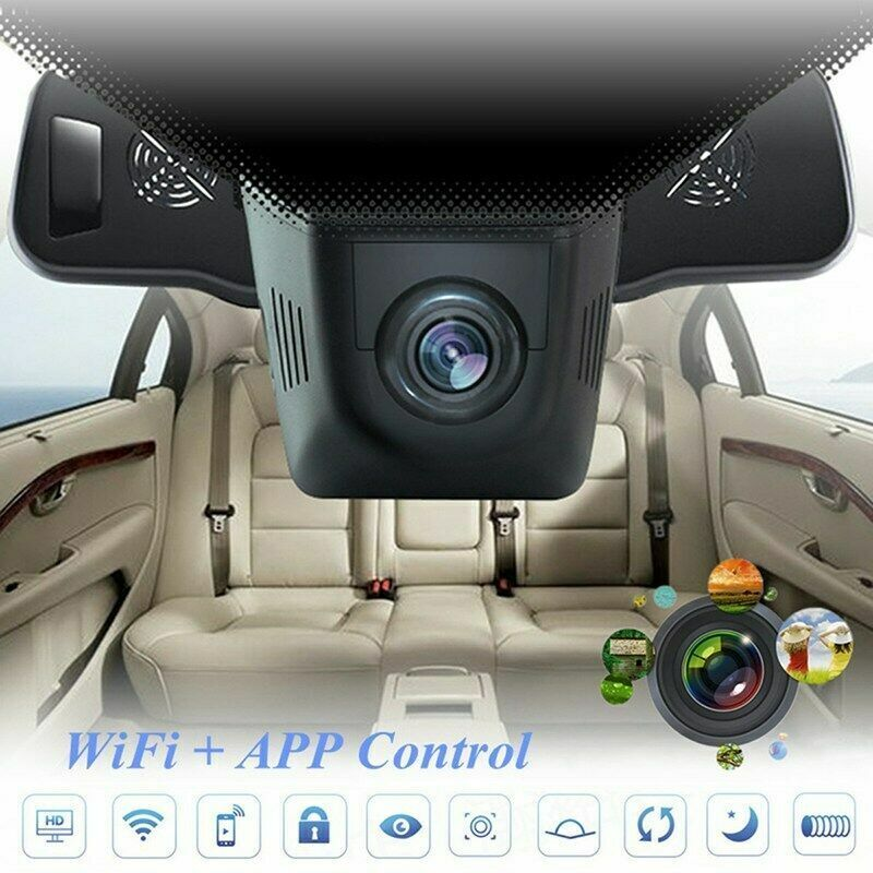 1080P WiFi 170 Front Lens + 140 Rear Lens Hidden Car DVR Dash Camera G-Sensor US