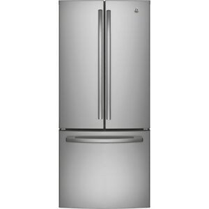 FRIDGE GE 21CU FRENCH DOOR STAINLESS STEEL OPEN BOX