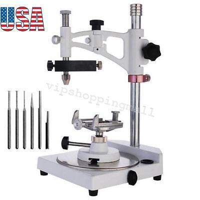 Adjustable Dental Lab Equipment Parallel Surveyor6 Spindles Complete Kit Set Us