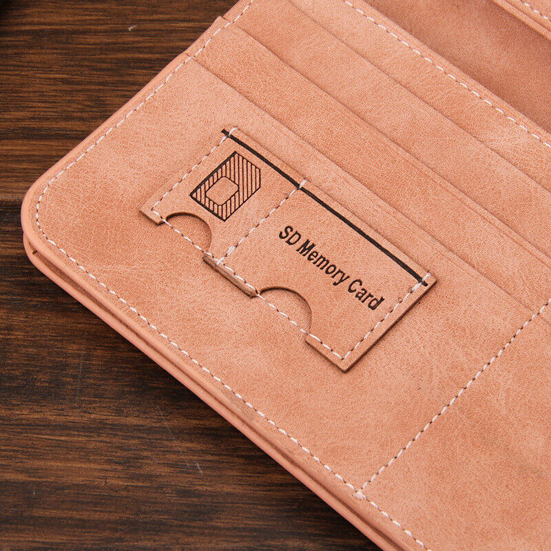Ultra Slim Men's Leather Clutch Long Purse Credit Card ID Holder Bifold Handbag Clothing, Shoes & Accessories