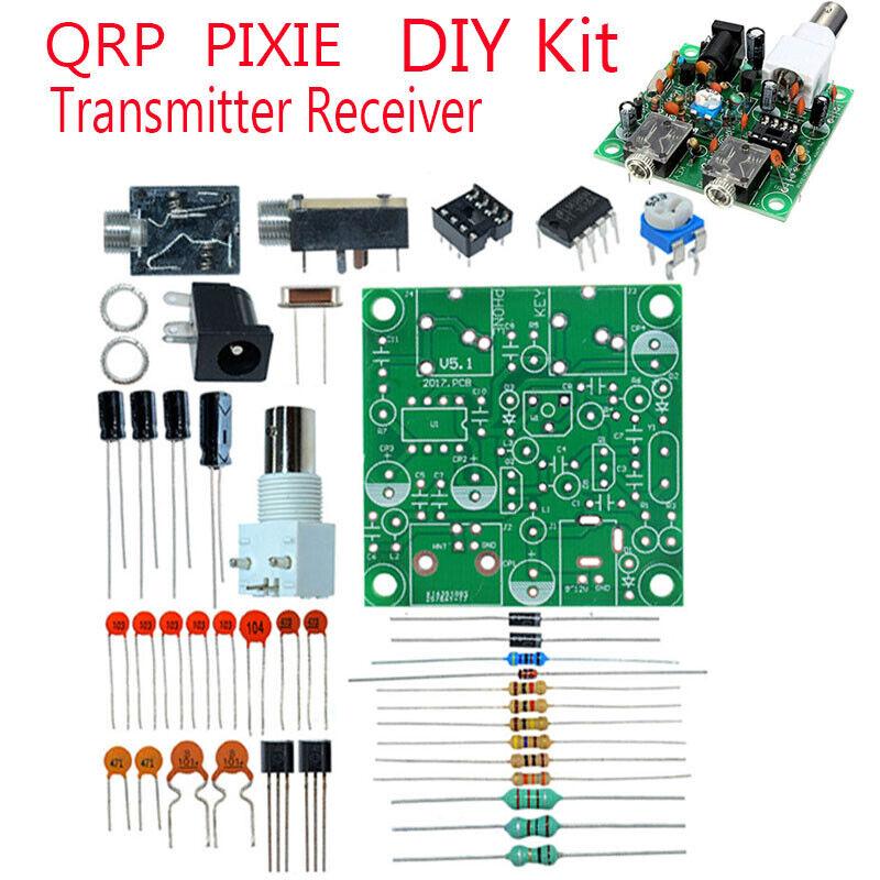 40M CW RADIO Shortwave Transmitter QRP Pixie Kit Receiver 7.023-7.026MHz E5J5