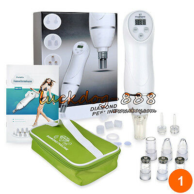 جهاز تقشير الجلد جديد Portable Diamond Dermabrasion Microdermabrasion Vacuum Peeling Skin Care Machine