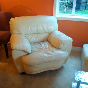 Update:  SOLD!....Leather living room set: couch, chair, ottoman