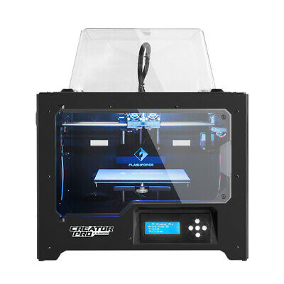 Flashforge 3D Printer Creator Pro Dual Extruder enclosed PLA/ABS Prints