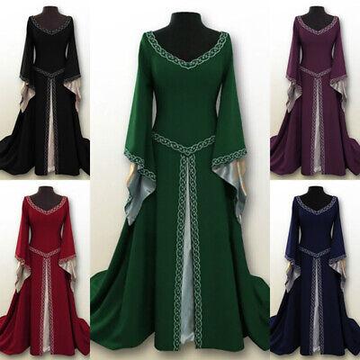 DE Vintage Damen Mittelalterliches Renaissance Kleid Prinzessin Cosplay - Renaissance Prinzessin Damen Kleid Kostüm