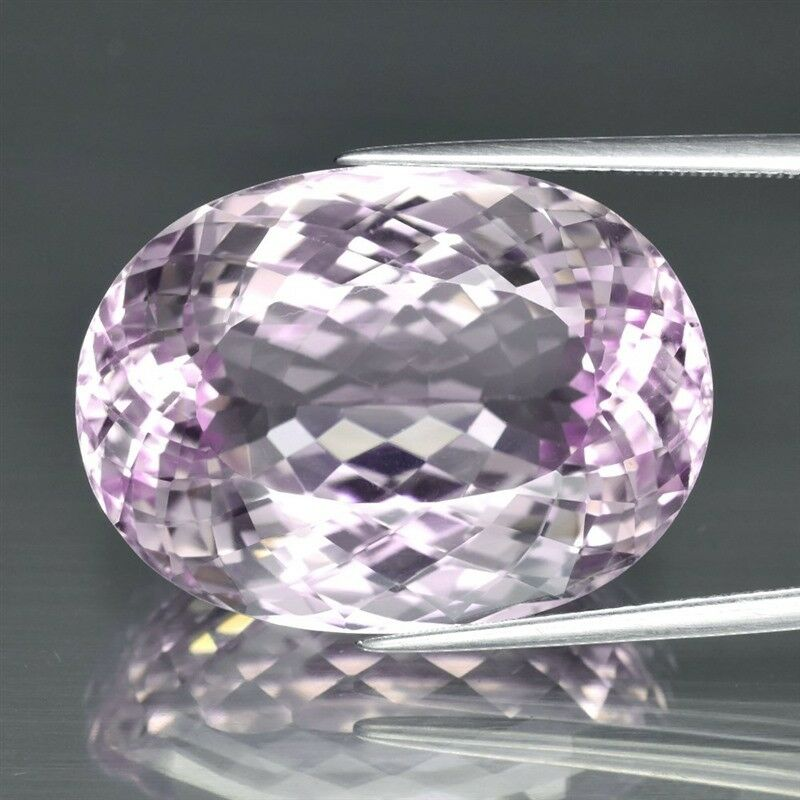 43.14ct 24.7x18.2mm VVS Oval Natural Untreated Pink Kunzite, Afghanistan
