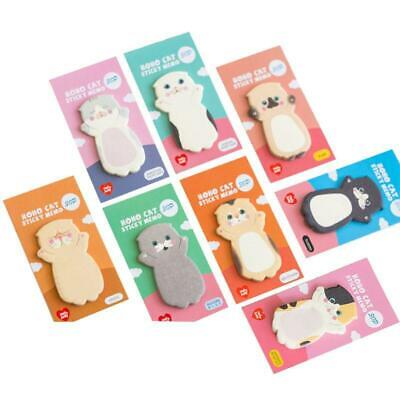 Cat Series Sticky Note Student Message Stickers N Times Memo Pad Scrapbooking