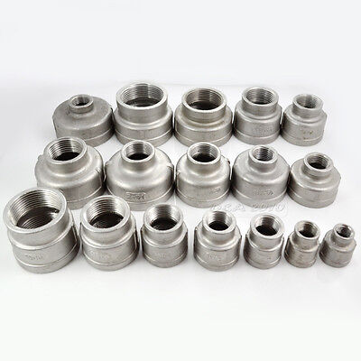 38x14 Female Nipple Threaded Reducer Pipe Fitting Stainless Steel 304 Npt