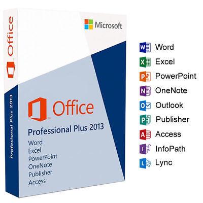 Office Professional Plus 2013- W/scrap, 100% Genuine, Lifetime Key