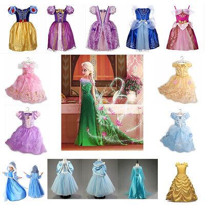 Kinder Mädchen Prinzessin Kleid Cosplay Geschenk Kostüm - Schneewittchen Mädchen Kostüm