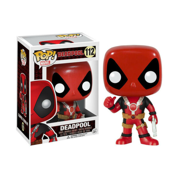 Funko Pop! Marvel: Deadpool: Thumbs Up Deadpool Vinyl Bobble-Head (New)