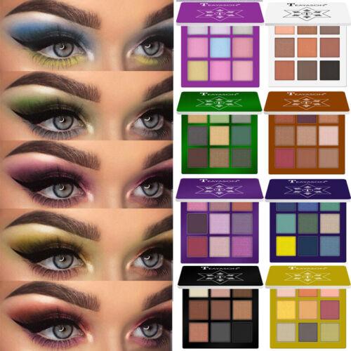 Make-up Kosmetik schimmern Matt nackt 9 Farben Pigment Lidschatten Palette Sombr