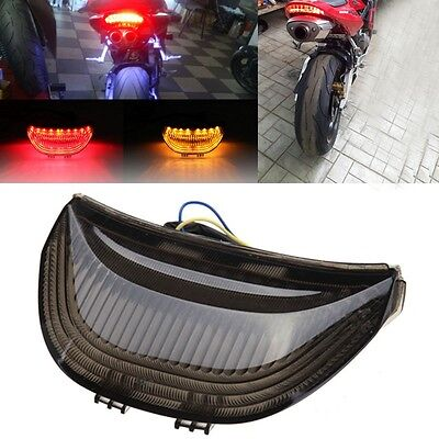 Smoke LED Tail Light Brake Turn Signals For Honda CBR 600RR 2003 2004 2005 2006