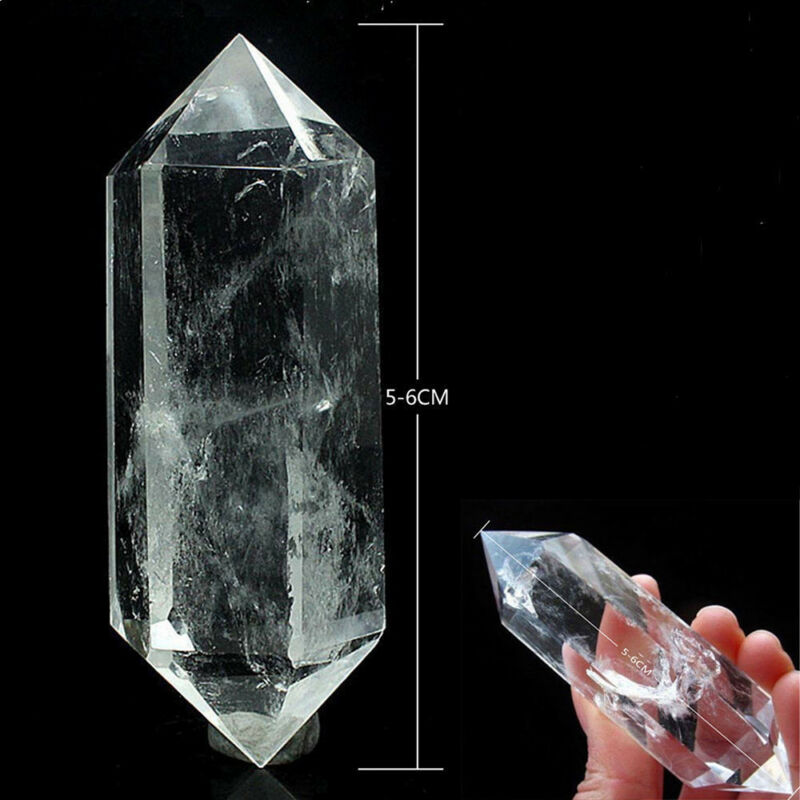 Rare Rock CLEAR QUARTZ CRYSTAL STONE 1PCS AAA DT WAND POINT Healing U gifts