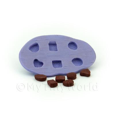 Miniatura Para Casa De Muñecas 6 Pieza Textura Camiseta Chocolate Molde image