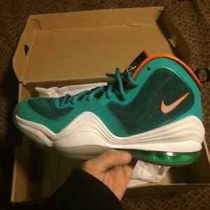Nike Air Penny 5s limited Miami Dolphins colourway!!DS size 8.5