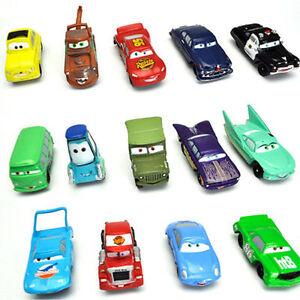 14Pcs Disney Pixar Cars Lightning McQueen Mater Sally Luigi Car Sheriff King Toy