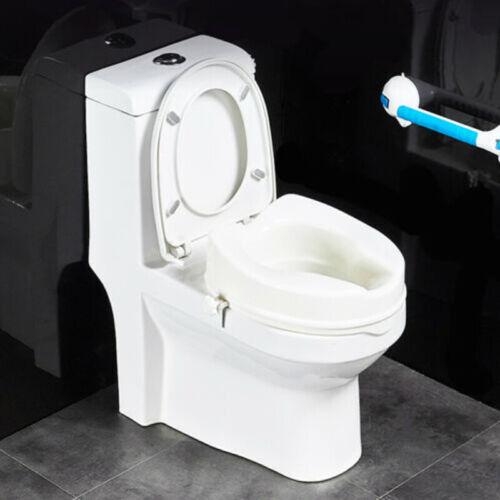 Toiletten Toilettensitzerhöher Senioren WC Sitz 10cm Erhöhung Deckel Weiß FUN