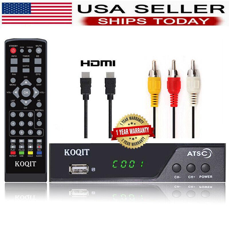 1080P Tuner Atsc Digital Converter Box Recording Analog TV Receiver Media Player