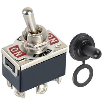 6 Pin3 Position On-off-on Dpdt Latching Toggle Switch Ac 250v15a Rubber Lock